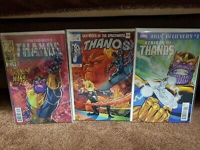 Thanos #13 1st Cosmic Ghost Rider & #17 Silver Surfer #4 tribute Both Variants!