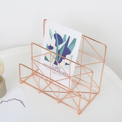 1 Pc Document Storage Rack Wrought Iron Simple Letter Holder Files Rack for Home