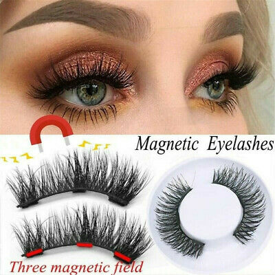 fd4f6f27a44 4pcs Magnetic Eyelashes 3-Magnets Long 3D Natural False Eye Lashes Extension  CN