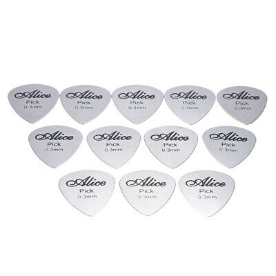 Metal 12x Acoustic Electric Guitar Celluloid Picks Plectrums 3 Thickness G2T9