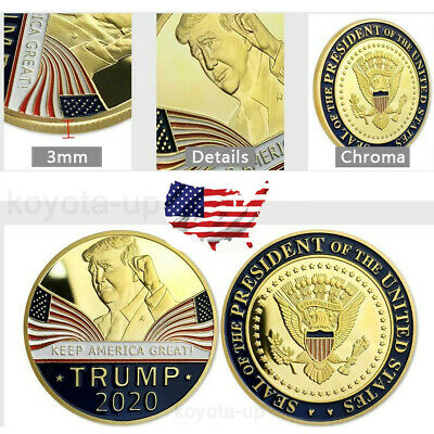Donald Trump 2020 Keep America Great Commemorative Challenge Coin Eagle Coins KY