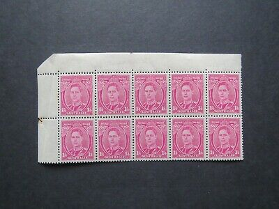 AUSTRALIA.1937.KGV1.DEFINITIVE.1/4d MAUVE  BLOCK OF 10.MINT NO HINGE.