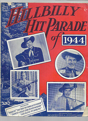 HILLBILLY HIT PARADE Of 1944 Song Book TEX RITTER FLOYD TILLMAN EDDIE DEAN Illus