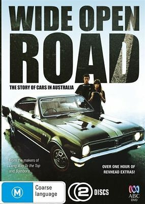 Wide Open Road (DVD, 2011, 2-Disc Set) NEW The Story Of Cars In Australia