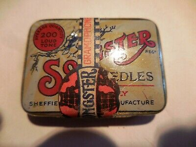 SONGSTER British 200  LOUD NEEDLE TIN  SHEFFIELD Victrola GRAMOPHONE Needles