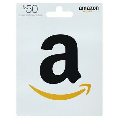 NEW  AMAZON GIFT CARD ( $50 USD) - Physical Card