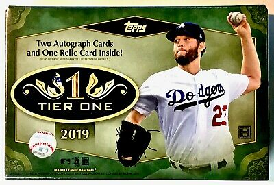 2019 Topps TIER ONE Hobby Box - 2 Autographs, 1 Relic per Box!