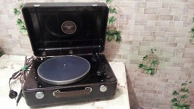"""Vintage USSR 1950"""" GRAMOPHONE PHONOGRAPH Portable Record Player - Excellent (EX)"""