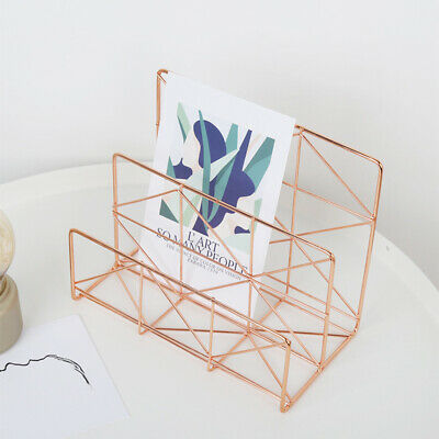 1 Pc Document Storage Rack Wrought Iron Letter Holder Files Rack for Home Office