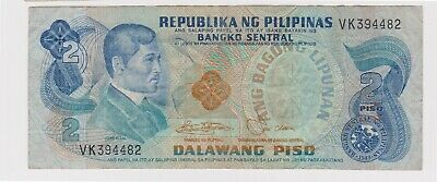 (N31-12) 1970 Philippines 2 Peso bank note (L)