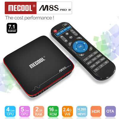 MECOOL M8S PRO Android 7.1 TV Box S905W 2G/16G Quad Core 4K WiFi 3D Medien O0P0