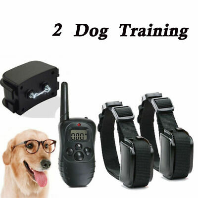 Dog Remote Control Training Anti-Bark Electric LCD Rechargeable Shock E-Collar 2