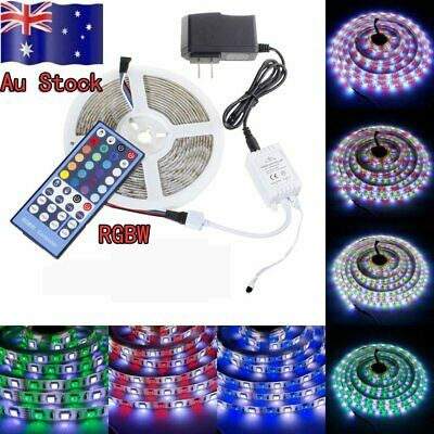 5M RGBW LED Strip DC 12V 4Colors in 1 Led 5050 SMD 60LED+ 40 Key Remote Power Au