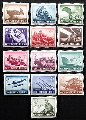 Germany - 1944 THIRD REICH ARMY DAY Complete set of 13 - MNH