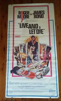 Australian 3 SHEET  DAYBILL POSTER.  BOND 007 LIVE AND LET DIE MOVIE POSTER 1975
