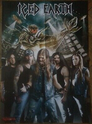 ICED EARTH !! POSTER !! Demons & Wizards/Blind Guardian/Metal Church/Iron Maiden