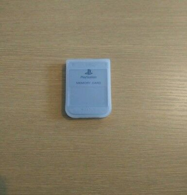 Official Grey Playstation One Memory Card + Case (8)