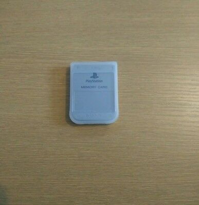 Official Grey Playstation One Memory Card + Case (9)