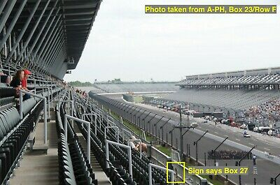 2 Indianapolis 500 Tickets • A-PENTHOUSE • Box 23 / Row D • Indy IndyCar