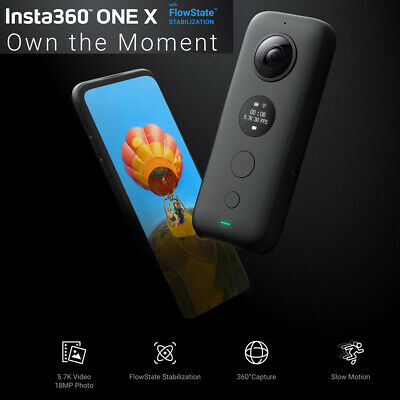 Insta360 ONE X 5.7K Panorama-Anti-Shake-Bewegungssport-Action-Kamera WiFi 30fps