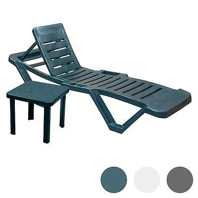 Garden Sun Lounger Resol Plastic Garden Adjustable Reclining Bed COLLECTION ONLY
