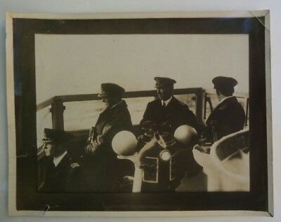 ADMIRAL BEATTY WITNESSING THE GERMAN NAVY SURRENDER Original Early PHOTO WWI