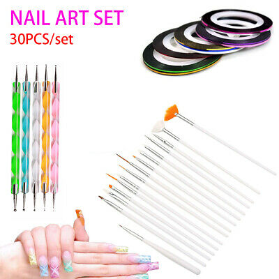 Nail Art Design Set Kit Dotting Painting Drawing Polish Brush Pen Tool DIY