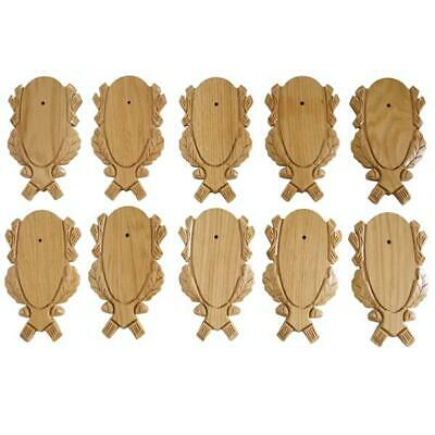 10-pc Tallado Corzo Signos Pack Set Tabla Escudo de Roble Claro