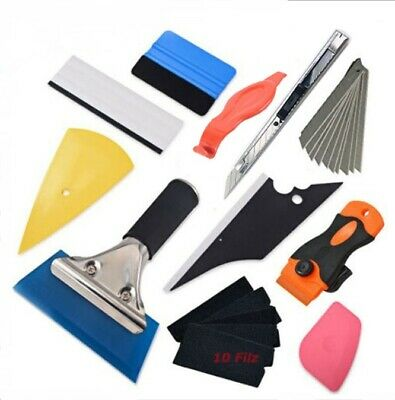 Window Tint Tools Car Wrapping Application Kit, Sticker Vinyl Sheet Squeegee UK