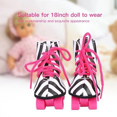 Fashionable Doll Toy Accessories Doll Roller Skate Shoes for 18inch Baby Doll CA