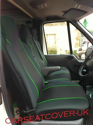 Heavy Duty Waterproof Van Seat Covers Black 2+1 Fits FORD Transit Mk 7 06-13
