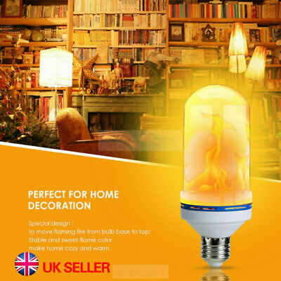 6.5W LED B22 E27 Burning Light Flicker Flame Bulb Fire Effect UK Decorative Lamp
