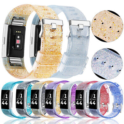 For Fitbit Charge 2 Wrist Strap Watch Band Silicone Glitter Bling Replacement