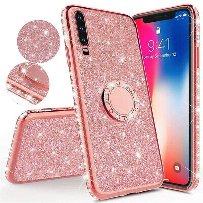 Bling Shockproof Silicone Ring Holder Case Cover for Samsung Galaxy A50 A30 M10