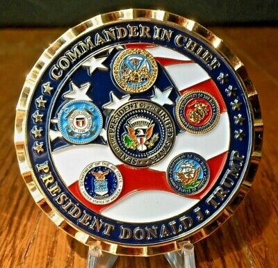"""The Official President Donald J. Trump 2.25"""" Commander In Chief Challenge Coin"""
