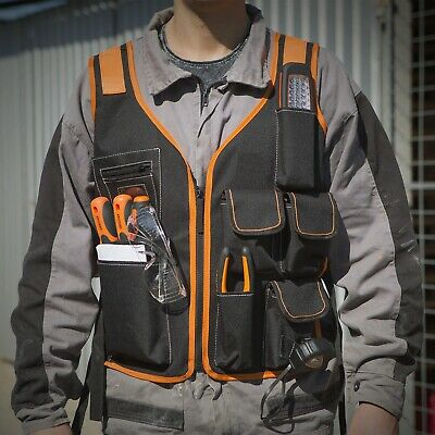 NS145 - Electrician Work Tools Pouches Vest 7 Pockets Carpenter Adjustable Strap