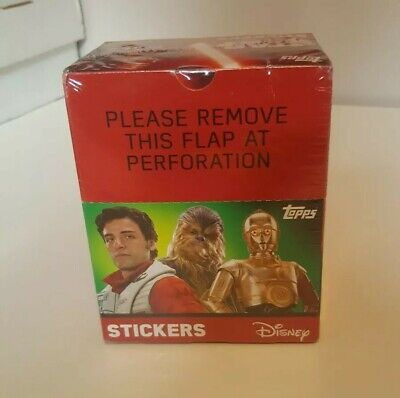 Star Wars Part 2 Sticker Collection Sealed Box x50 Packets (Topps, )