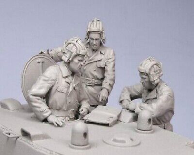 1/35 Resin WWII Russian Tanker Commanders 3 Soldiers Unassembled Unpainted BL687