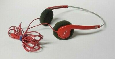 Sony Mdr-005 Red Stereo Headphones