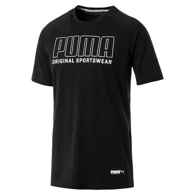 PUMA Athletics Graphic Tee Herren T-shirt Sportswear 855134 01 schwarz