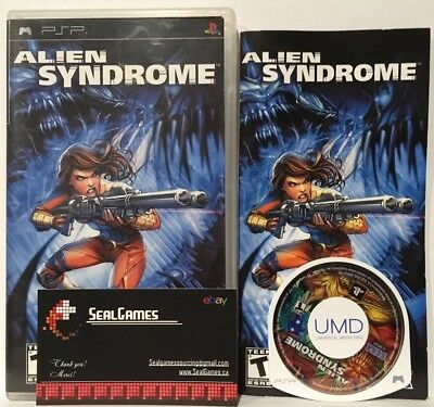 Alien Syndrome (Sony Playstation Portable PSP, 2007) Complete Cib