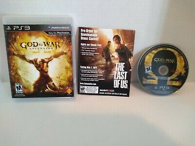 God of War Ascension (Sony PlayStation 3, 2012) PS3 CLEAN TESTED Complete