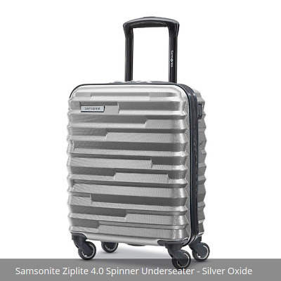 "NEW Samsonite Ziplite Underseater 18"" Hardside Underseat Luggage, Silver Oxide"