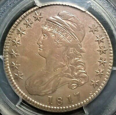 1817 Capped Bust Half Dollar  PCGS XF details Overton 108