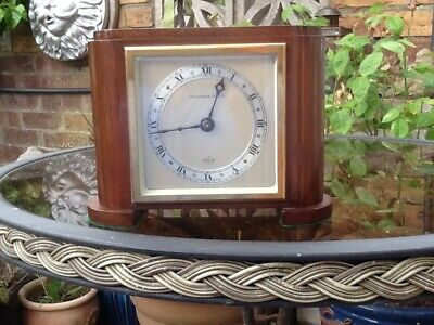 Art Deco Elliott Mantle Clock - Working!