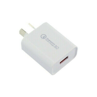 Quick charge 3.0 5V 3A USB Wall Charger AU Plug Samsung Huawei iPhone