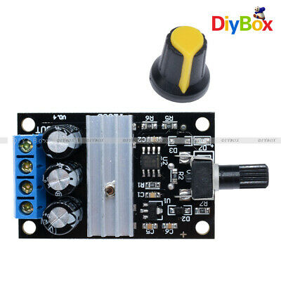 DC 6V 12V 24V 28V 3A PWM Motor Speed Control Switch Controller Black For DC Moto
