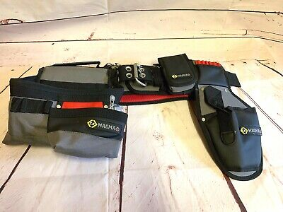 CK Tools Magma Tool Belt Set With Tool Pouch Phone Holder & Drill Holster