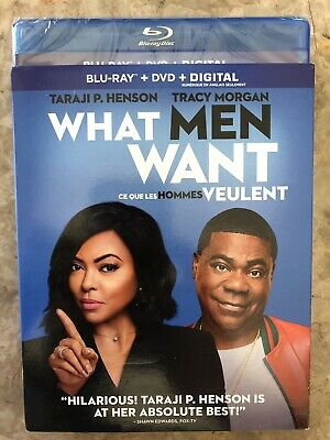 What Men Want Blu-Ray & DVD w Slipcover Canada Bilingual NO DC LOOK
