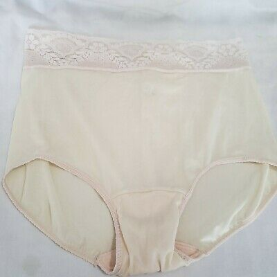 vntg Bali Silky Sissy Panties Sz Large 7 NWOT lace High Waist Nylon